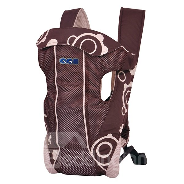 Adjustable Convenient Four Positions Brown Baby Carrier