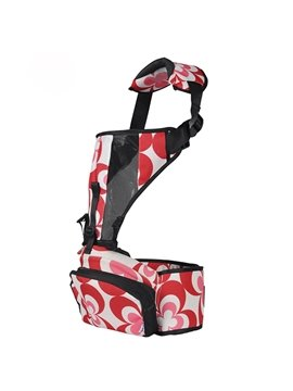 Multi Functional Red Color Baby Hip Seat and Carrier with Pockets