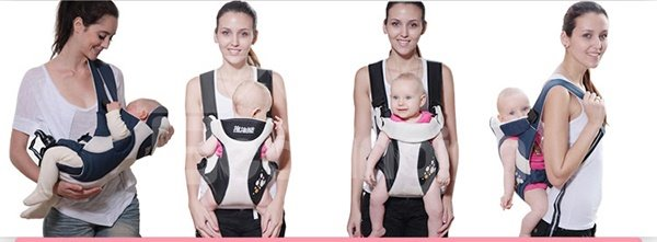 Comfortable Handy Four in One Brown Color Baby Carrier