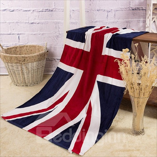 Novel Fashion the UK Flag Pattern Bath Towels