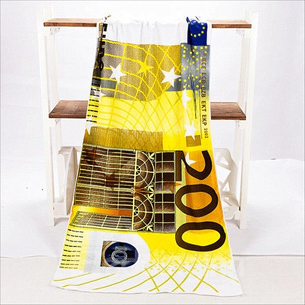 Novel Fashion Best 200 Euro Pattern Bath Towels