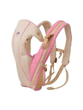 Simple Style Light Pink Color Front and Back Baby Carrier