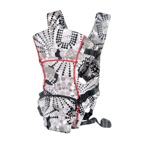 Storage Pocket Attachable Multi Position Polka-Dotted Baby Carriers