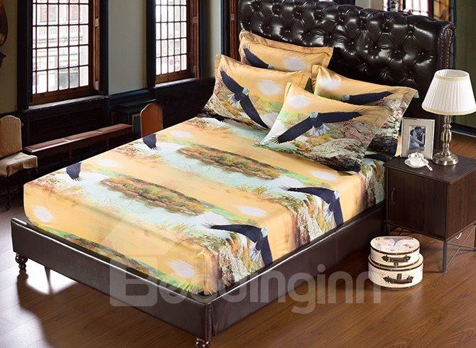 Gorgeous Unique Soaring Eagle 3D Design 5-Piece Comforter Sets