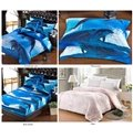 Adorable Jumping Dolphin Blue Ocean 5-Piece Comforter Sets