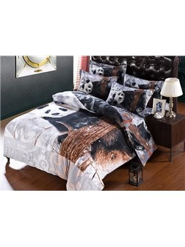 Super Comfy Lovely Panda 5-Piece Comforter Sets