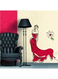 Gorgeous Graceful Lady Wall Sticker