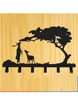 Creative Sika Deer Image Steel Coat Hook