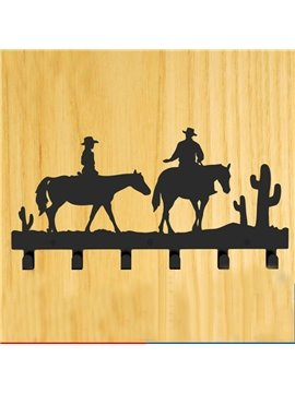 Creative West Cowboy Image Steel Coat Hook