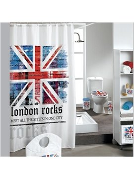 London Style National Flag Extra Long Shower Curtain