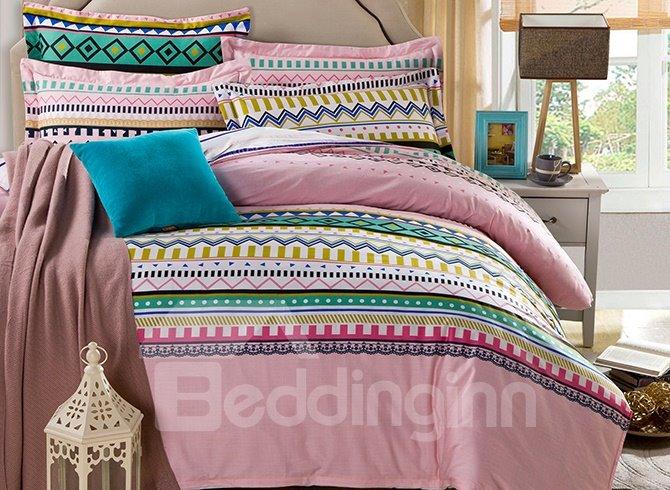 Gorgeous Bohemia Style Stripe Pattern 4-Piece Bedding Sets
