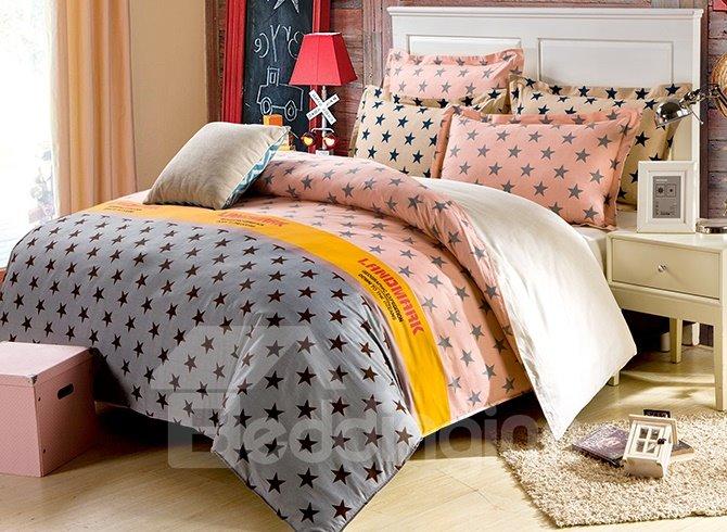 Gorgeous Fresh Stars Pattern 4-Piece Bedding Sets
