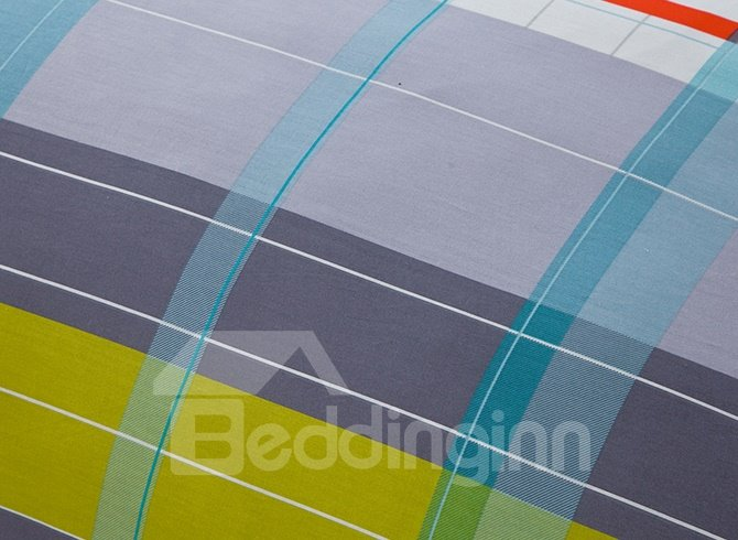 100% Cotton Well Designed Lattice Duvet Cover Sets