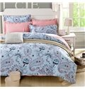 Concise Floral Pattern 4-Piece Bedding Sets