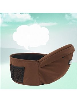 Chocolate Color Comfortable Useful Cotton Baby Hip Seat with Pocket