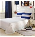 Navy and White Stripe Pattern 4-Piece Bedding Sets