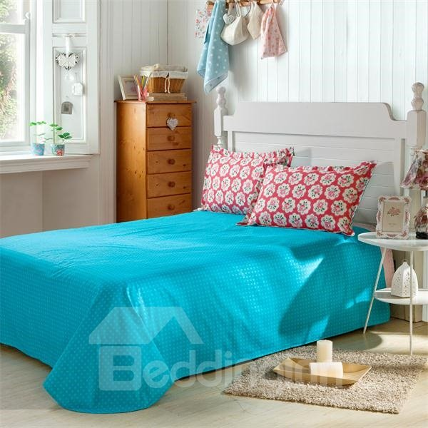 Blooming Flower and Blue Stripe Pattern 4-Piece Bedding Sets