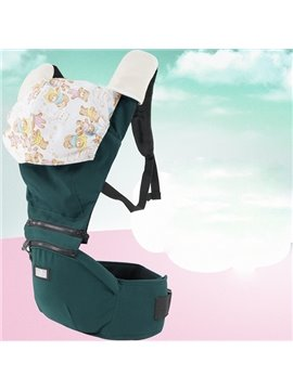 Vibrant Green Color Super Comfortable Cotton Baby Carrier with Hood