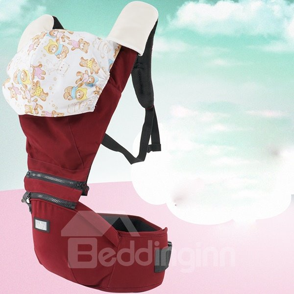 Lively Red Color Super Comfortable Cotton Baby Carrier with Hood