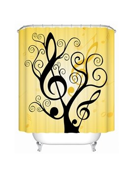 Unique Creative Note Tree Extra Long Shower Curtain