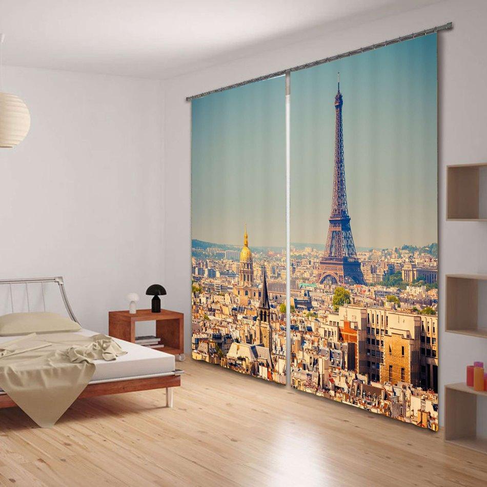 Magnificent Tower Print 3D Blackout Curtain