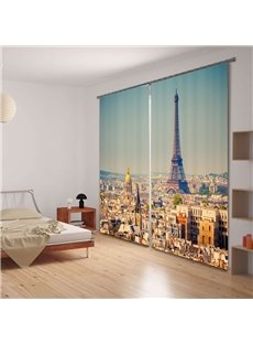 Magnificent Tower Print 3D Blackout Curtain