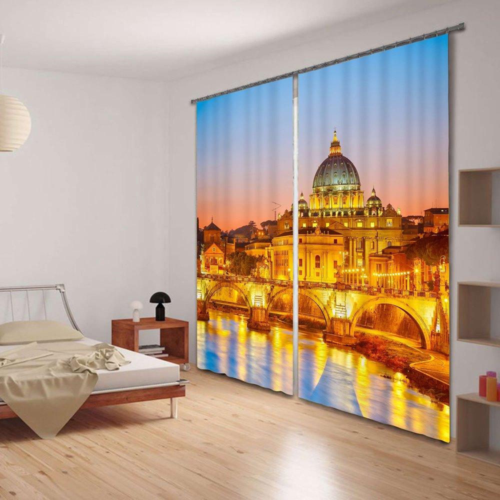 Majestic Golden Palace 3D Energy Saving Curtain