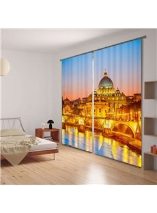Majestic Golden Palace 3D Energy Saving Curtain