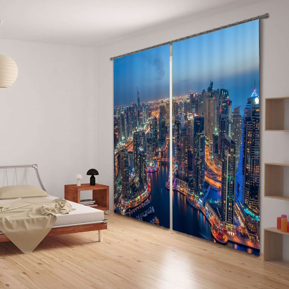 Daybreak City Scenery 3D Blackout Curtain