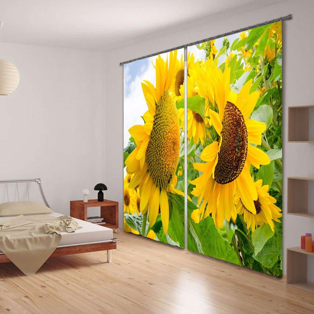 Vivid Sunflower Versatile 3D Blackout Curtain