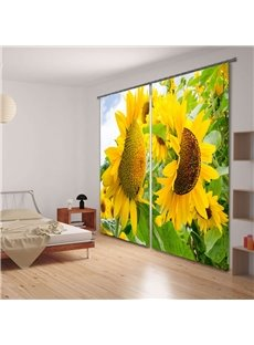 Vivid Sunflower Versatile 3D Blackout Curtain