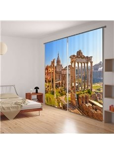 Ancient Rome Scenic Spot 3D Blackout Curtain