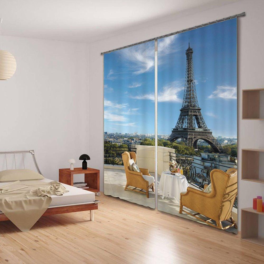 3D Tower Scene Versatile Energy Saving Curtain