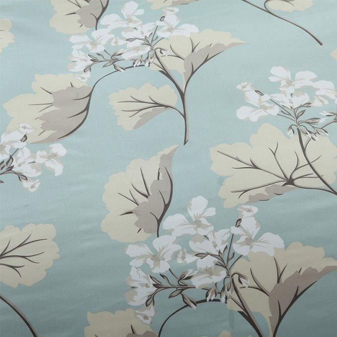 Concise Elegant Gingko Print Cotton Blue 4-Piece Duvet Cover Sets