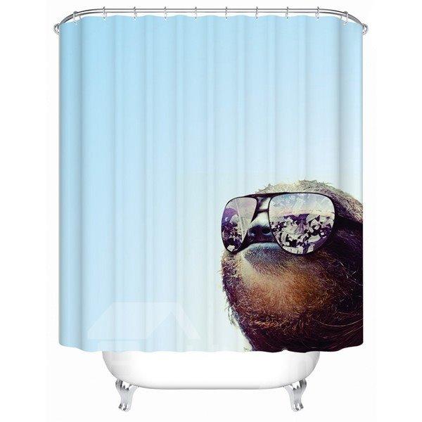 Novel Fashion Blue 3D Bathroom Shower Curtain