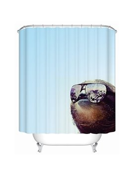 Novel Fashion Blue 3D Bathroom Shower Curtain