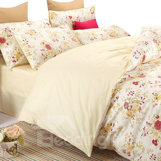 Top Class Floral Full Cotton 4-Piece Duvet Cover Sets