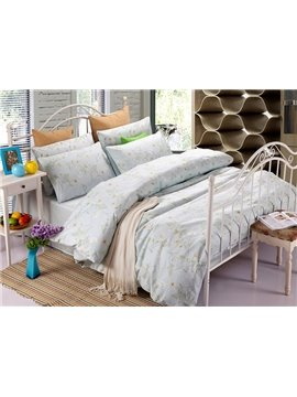 Slap-up Elegant Camellia 100% Cotton 4-Piece Duvet Cover Sets