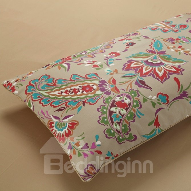 Upscale European Jacquard Full Cotton Brown 4-Piece Duvet Cover Sets