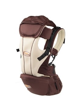 Safe Comfortable Multi Functional Brown Cotton Baby Carrier