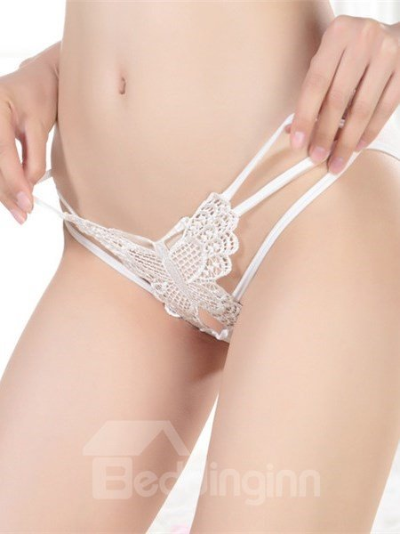Super Sexy Butterfly Pattern Multi Strings Lace Panty