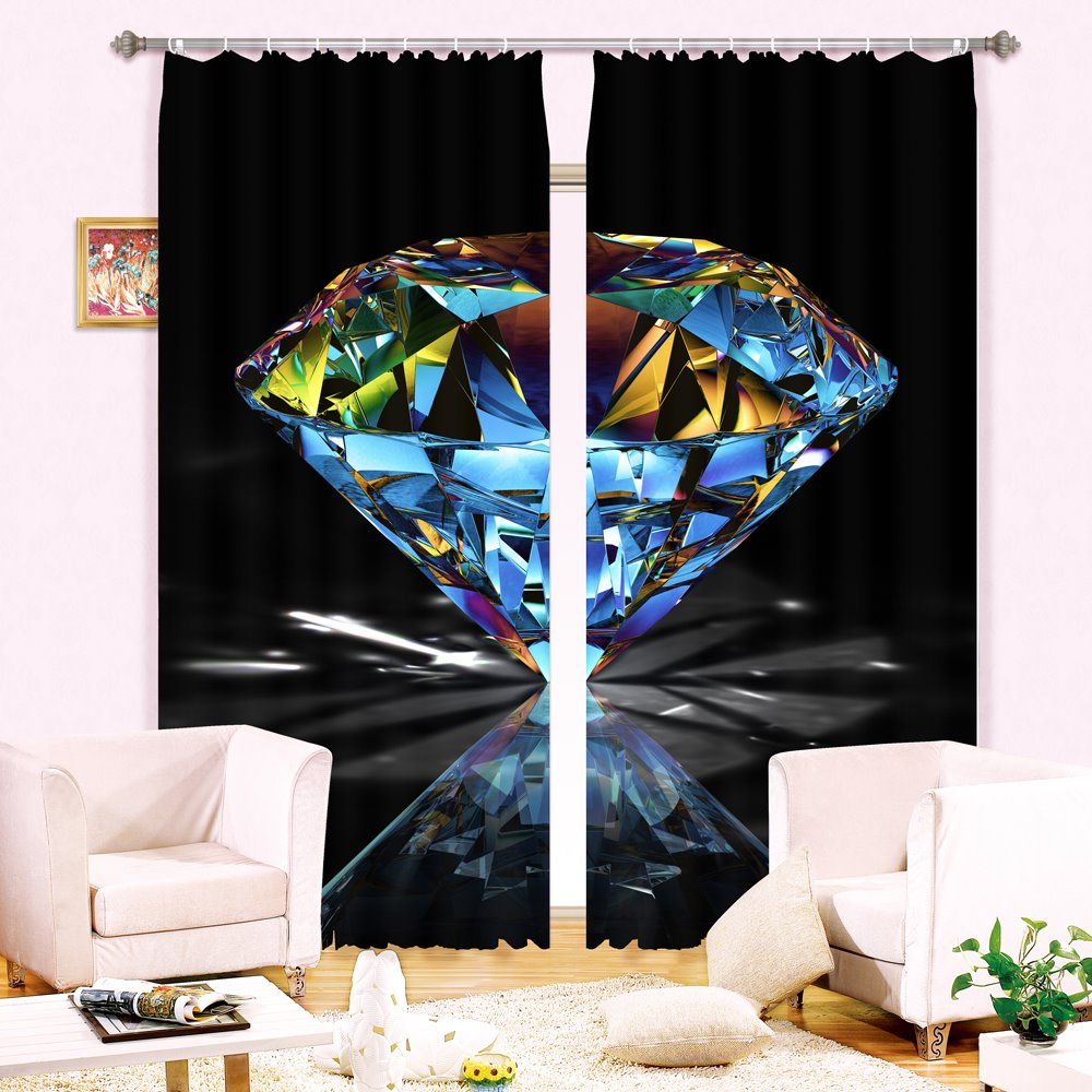 Wonderful Shining Diamond 3D Blackout Curtain