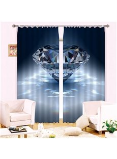 Beautiful Diamond Print 3D Blackout Curtain
