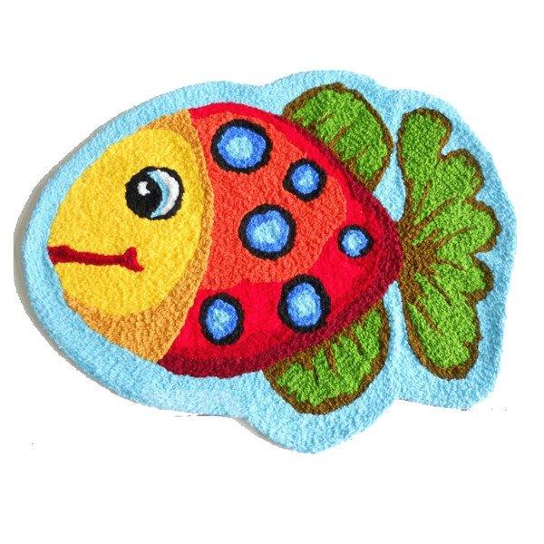 Soft Cozy Lovely Cartoon Yellow Fish Bath Rug