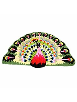 Soft Arch Peacock Large Size Bath Rug