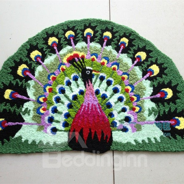 Soft Arch Peacock Large Size Bath Rug Beddinginn Com