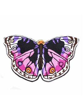 Cozy Vivid Butterfly Pattern Blending Bath Rug