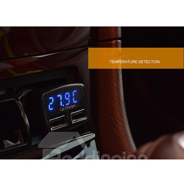 Unique Smart Measuring Voltage Dual USB  Car Charger