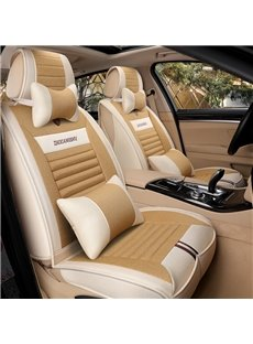 Textured Designed Containing Precious Chinese Herbal Medicine Luxurious Flax Universal Car Seat Covers