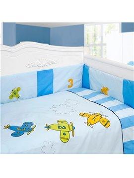 Adorable Little Planes 9-Piece Crib Bedding Sets